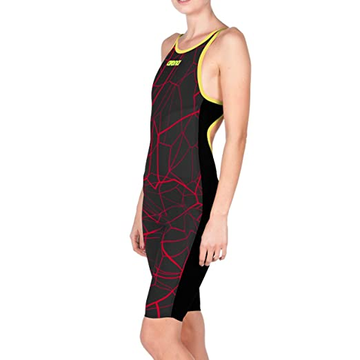 e6c9c83249f arena Powerskin Carbon Air FBSL Open Back Women's Racing Suit, Black /  Bright Red,