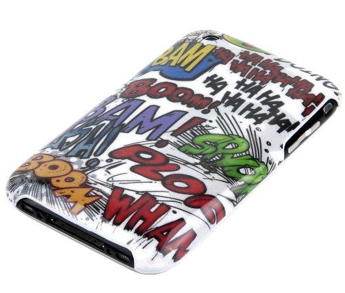 gada - Handyhülle für Apple iPhone 3GS 3G 3 Schutzhülle Hardcase im stylischen Design - Comic BOOM Cartoon