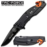 Tac Force Assisted Opening Rescue EMS EMT Tactical Pocket Folding Stainless Steel Blade Knife Outdoor Survival Camping Hunting
