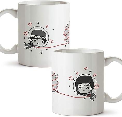 MUGFFINS (Pack 2 tazas) Tazas San Valentín - Astronautas - Regalos ...