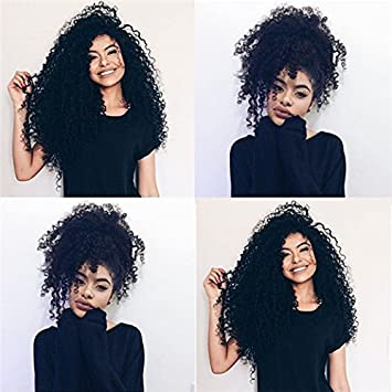 14inch Clip In Hair Extensions Mongolian Remy Virgin Kinky Curly 3b 3c African American Clip In Human Hair