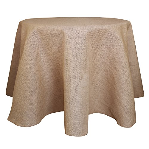 Ultimate Textile (3 Pack) Burlap 114-Inch Round Jute Tablecloth Natural by Ultimate Textile