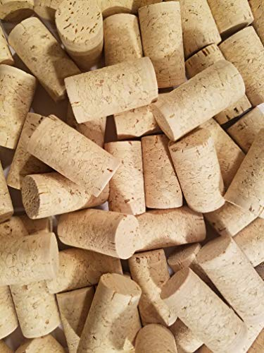 100 Blank Wine Bottle Corks Bulk New #9 Agglomerated Natural Corks Best for Corking Homemade Wine Making With Home Corker or Craft Cork Supply for DIY Art Winecork Projects