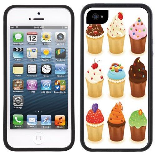 Cupcakes Weiß   Handgefertigt   iPhone 5 5s   Schwarze Hülle