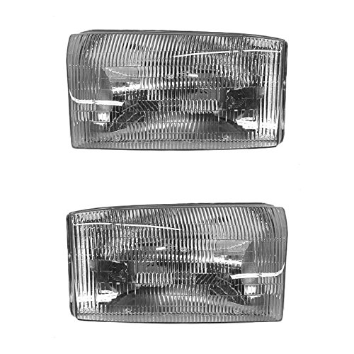 Headlights Headlamps Left & Right Pair Set for Ford Super Duty Pickup Truck 03 Ford F350 Pickup Truck