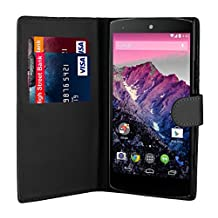 32nd® Book wallet PU leather case cover for Huawei Nexus 6P (2015), including touch stylus - Black