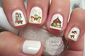 40 christmas nail decal nail art fingernail decals nail