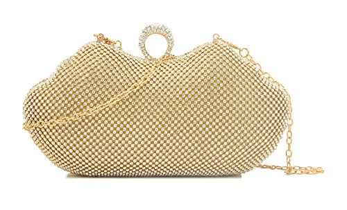 Elegant - Cartera de mano para mujer dorado