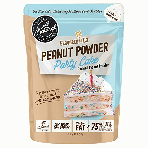 Flavored PB Co. Cake Flavored Peanut Butter Powder, Low Carb and Only 45 Calories, All-Natural from US Farms (8 oz.)