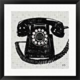Vintage Analog Phone by Michael Mullan Framed Art Print Wall Picture, Black Frame, 25 x 25 inches