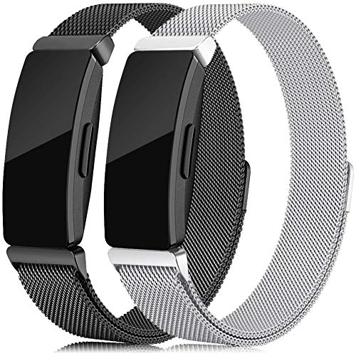 Stainless Steel Metal Band - Find-MyWay Compatible with Fitbit Inspire HR Bands/Inspire Band, Stainless Steel Bracelet Strap Inspire Accessories Small & Large for Women Men Wristband Compatible with Fitbit Inspire Fitness Tracker