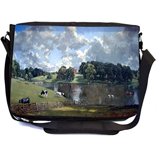 Rikki Knight John Constable Art Wivenhoe Park Design Multifunction Messenger Bag - School Bag - Laptop Bag - with padded insert for School or Work - includes Pencil Case