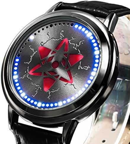 Wildforlife Anime Naruto Shippuden Sasuke Mangekyou Sharingan Collector's Edition Touch LED Watch
