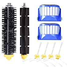 Accessory for iRobot Roomba 600 610 620 630 645 650 655 500 595 Series Vacuum Cleaner Replacement Part Kit Includes 2 Pack Filter, Side Brush, Bristle Brush and Flexible Beater Brush