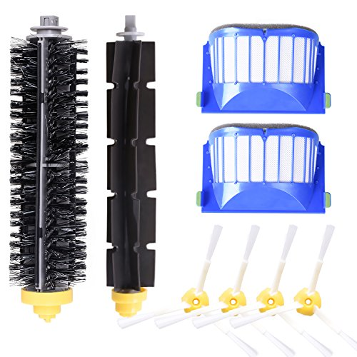 Accessory for iRobot Roomba 600 610 620 630 645 650 655 660 680 500 Series Model 595 Replacement Kit Replenishment iRobot Parts Set Filter Side Brush Bristle Brush Flexible Beater Brush