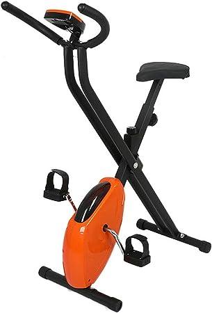 WuoooLi Bicicleta Estática de Profesional,Sillín Ajustable, Altura Ajustable, Indoor,Monitor LCD Adultos Unisex Máx.100kg,para Gimnasio de Oficina en Casa: Amazon.es: Hogar