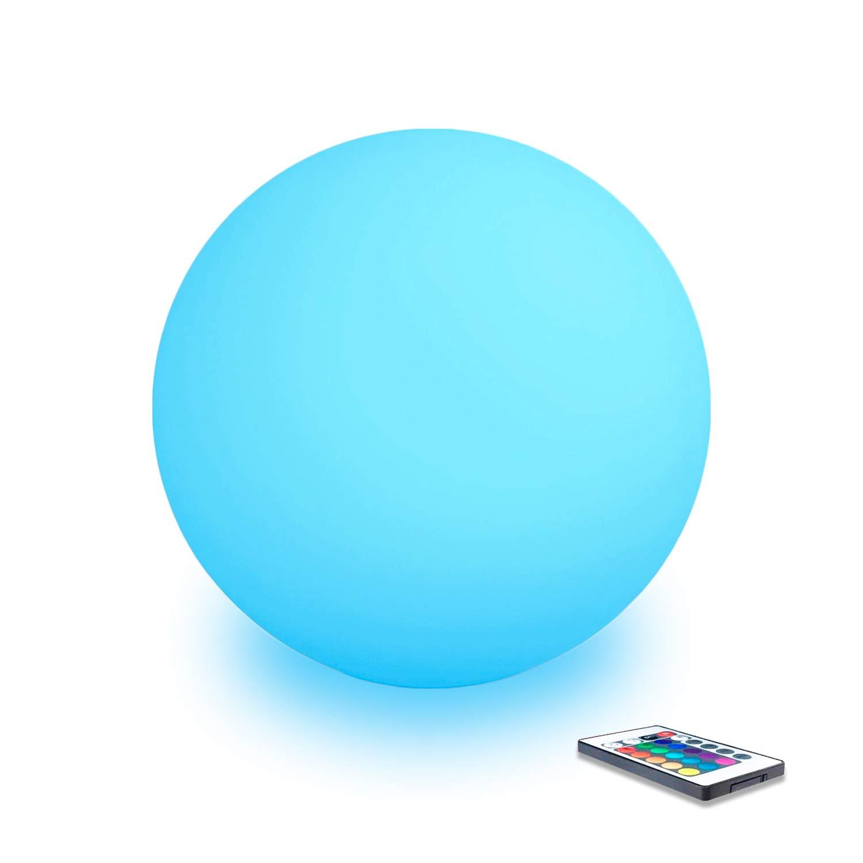 Mervyn palla LED sfera decorativa luminosa multicolore + Telecomando/Interieur–Esterno/caricatore senza fili induzione, multicolore, 30 cm MUSTDUNET