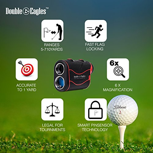 Double Eagles DEPRO-800 Golf Rangefinder - Laser Range Finder with Pinsensor - Laser Binoculars - Free Battery - Water Proof by Kozyvacu (Image #5)