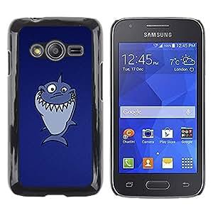 Shell-Star Arte & diseño plástico duro Fundas Cover Cubre Hard Case Cover para Samsung Galaxy Ace4 / Galaxy Ace 4 LTE / SM-G313F ( Funny Troll Lol Shark )