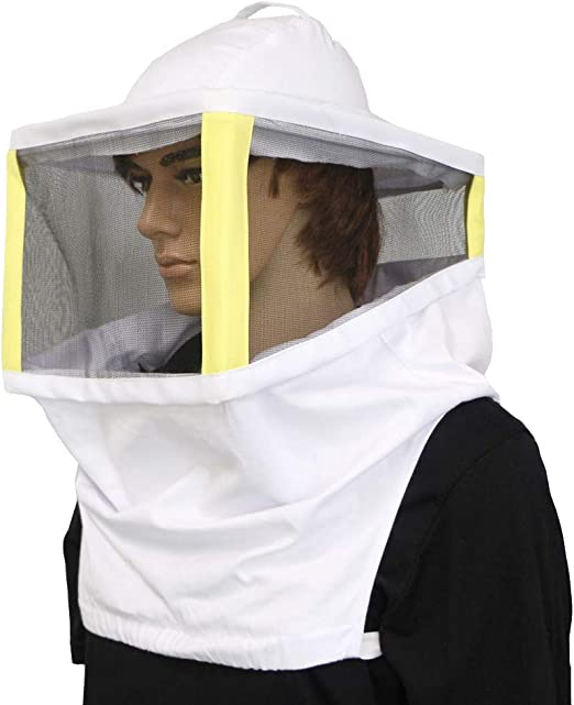 Cotton Stingless Removable Top Cap for Beekeeper Fishing Gardening Luwint Folding Square Beekeeping Veil Hats