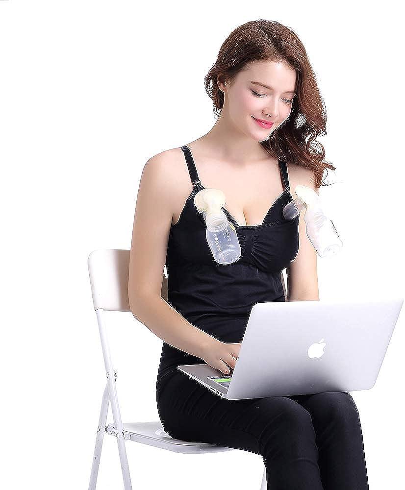 Zyorenc Sujetador Tanque de Lactancia Manos Libres para Premam/á Bombeo de Maternidad sin Costuras