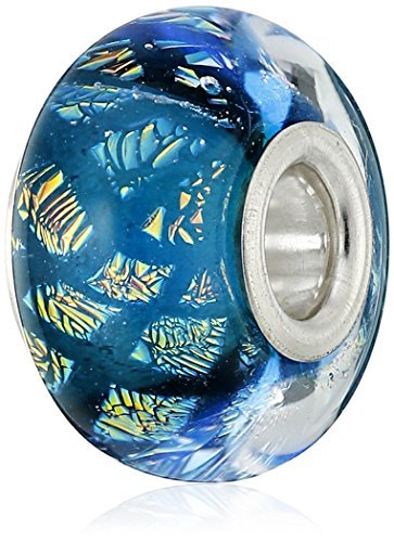Chamilia Sterling Silver and Murano Glass Opulence Blue Bead Charm