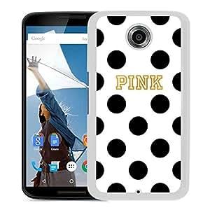 Unique Designed Victoria's Secret Love Pink Cover Case For Google Nexus 6 in White Phone Case 57