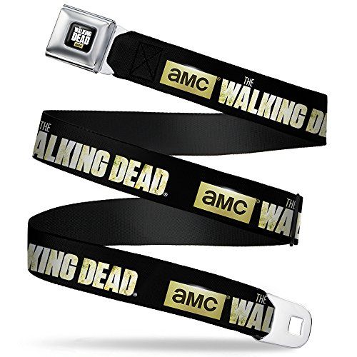 Buckle-Down Seatbelt Belt - THE WALKING DEAD-Black/Field - 1.5