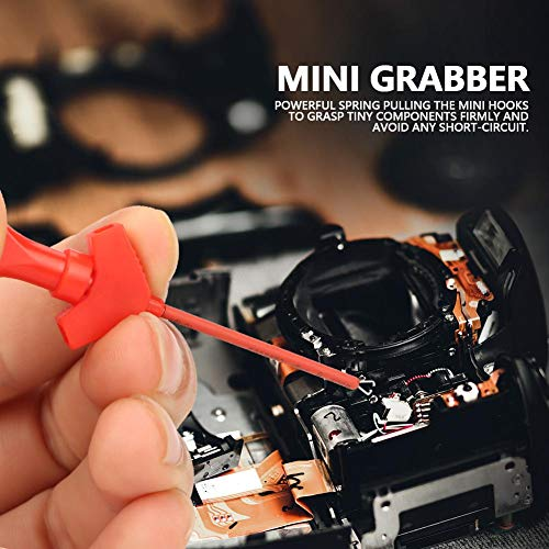Clip de Prueba de Gancho Mult/ímetro de 10 Piezas Walfront P5003 10pcs Mini Gancho de Sonda de Prueba de Captura para Clips de Prueba SMD IC Puente de An/álisis L/ógico Accesorios