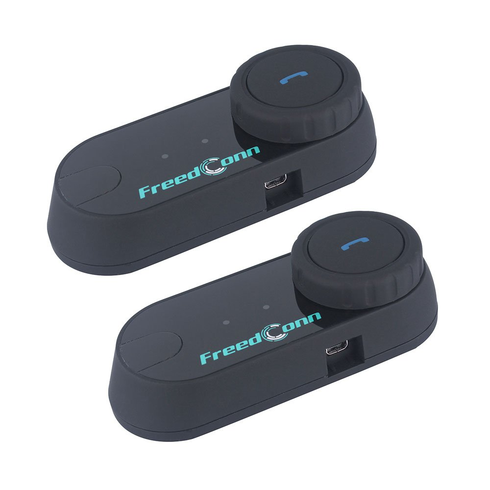 Motorcycle Communication System,FreedConn T-COMVB Helmet Bluetooth Headset Intercom for Motorbike Skiing (Pack of 2/Range-800meters/2-3Riders Pairing/Black)