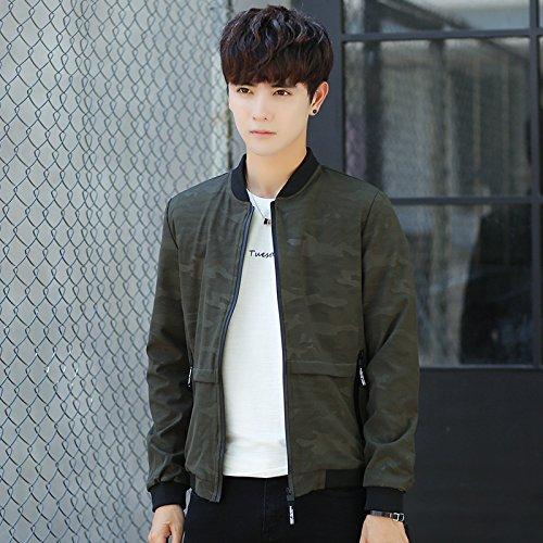Hombres Los XXL de coreana la Chaquetas Chaquetas versión el de juventud verde uniforme otoño Sau Trrdq6
