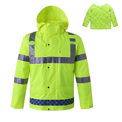 Uomo: Abbigliamento Impermeabile Alta Visibilità Emergenza Sanitaria