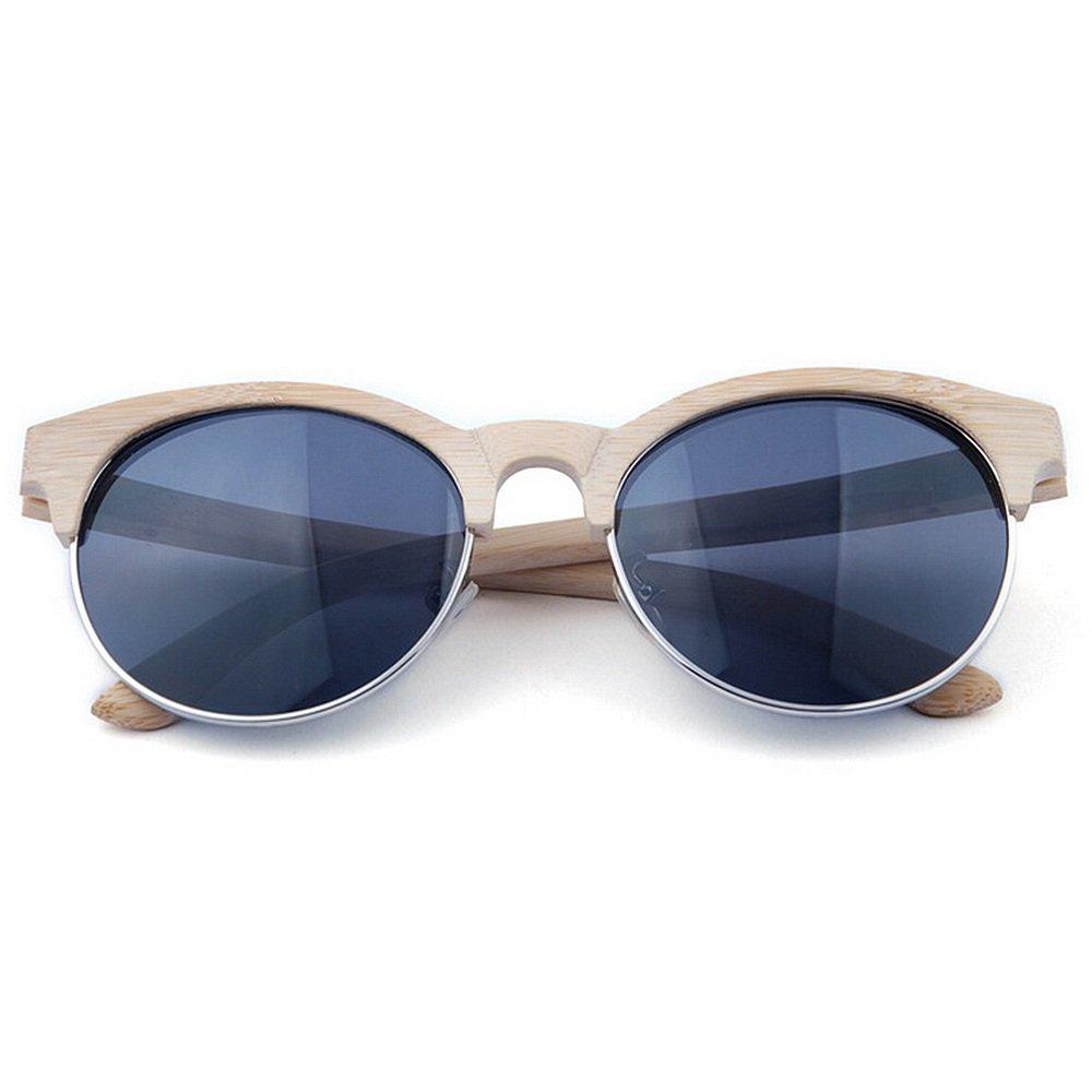 2896a50dfa Adult Eyewear Gafas de sol de bambú polarizadas semi-sin montura hechas a mano  Gafas de sol de alta calidad hechas a mano de la protección ULTRAVIOLETA  que ...