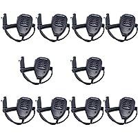 10pcs Baofeng Waterproof Rainproof Shoulder Remote Speaker Mic Microphone for Baofeng Waterproof Two Way Radio BF-A58 BF-9700 GT-3WP UV-82WP UV-9R Series