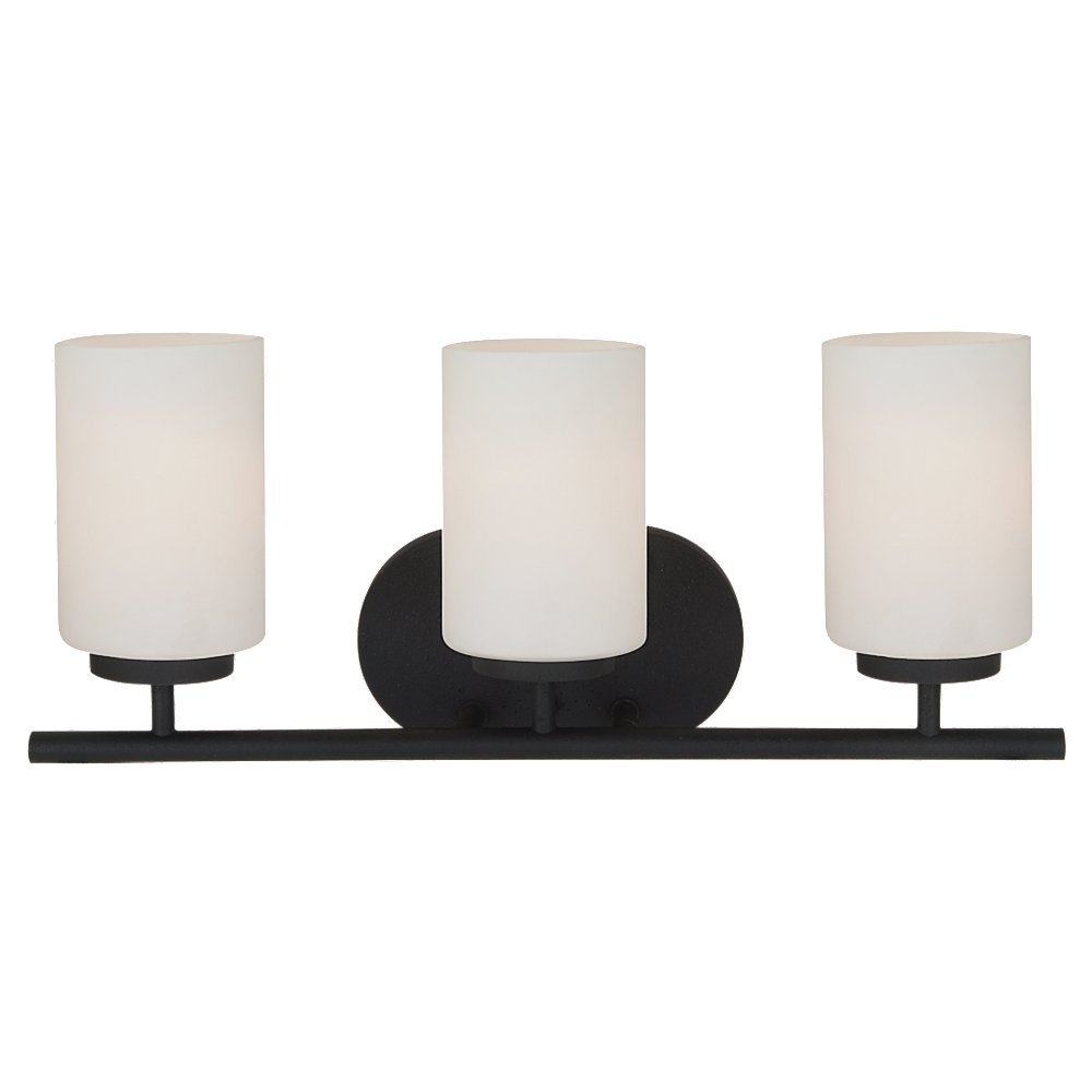 Sea Gull Lighting 41162-839 Oslo Three Light Wall Bath Vanity Style Lights, Blacksmith Finish