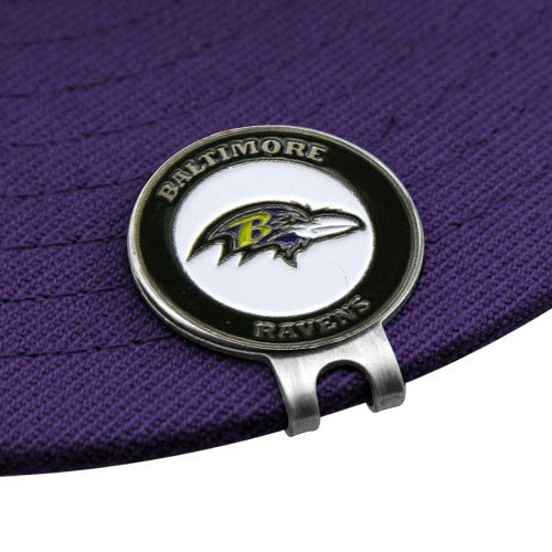 Baltimore Ravens Golfer's Hat Clip & Ball Markers by Football Fanatics