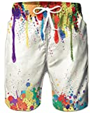 RAISEVERN Funny Printed Beach Lounge Shorts for Men Boys Outdoor Short Pants