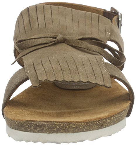 discount outlet Manchester online xyxyx Women's Sandale Open Toe Sandals Brown - Braun (Taupe) free shipping pre order countdown package discount excellent Mvato