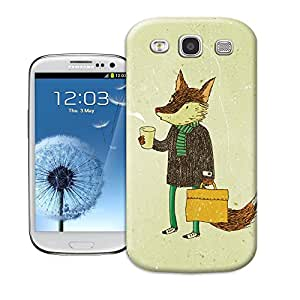 longcase Cute Fox Painting Picture Of Vivid And Attractive Design Tpu Cases For samsung galaxy s3