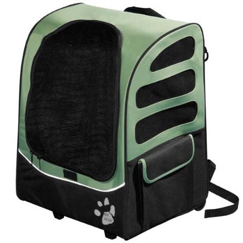 Pet Gear I-GO2 Plus Traveler Rolling Backpack for cats and dogs, Sage, My Pet Supplies