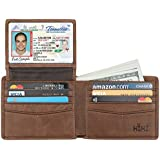 Wallet for Men-Genuine Leather RFID Blocking Bifold Stylish Wallet With 2 ID Window (Coffee)