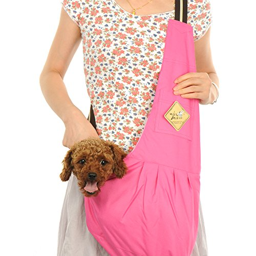 LUXMO Oxford Outward Fashion New Pet Sling-style carrier Pet Dog Cat sling Bag Rose Red Size:M Review