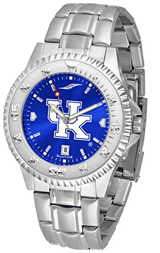 Kentucky Wildcats Competitor Steel Watch - New Linkswalker Mens Kentucky Wildcats Competitor Steel Anochrome Watch