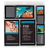 Snap 10-Piece Magnetic Frame Set, Black