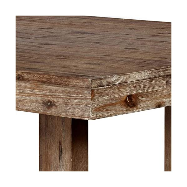 HOMES: Inside + Out Natural Tone Dawson Industrial Dining Table