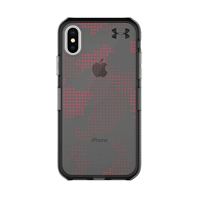premium selection 3494a 25d0f Under Armour UA Protect Verge Case for iPhone X - Translucent Utility  Black/Red