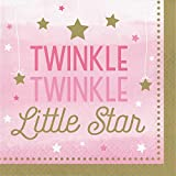 Creative Converting 322251 192Count Lunch Paper Napkins, One Little star- Girl, , One Little Star - Girl