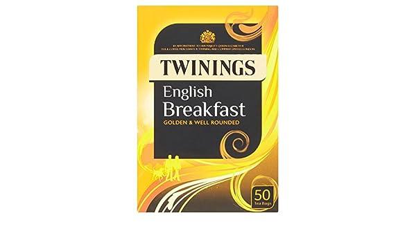 Twinings Inglés Desayuno Bolsas de té 50 por paquete: Amazon.es: Bebé