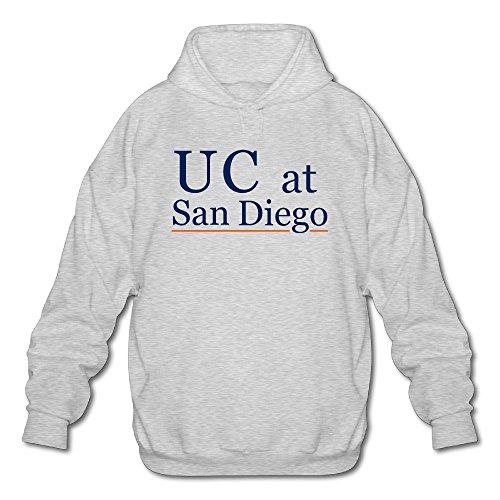 PHOEB Mens Sportswear Drawstring Hoodies Outwear Jacket,University Of California Ash Large