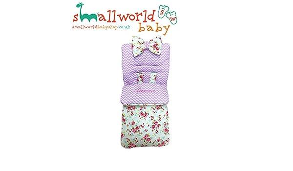 Saco de dormir personalizado con diseño de zigzag rosa y crema y cono: Amazon.es: Bebé